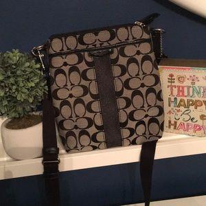 Coach crossbody bag Black/ Grey